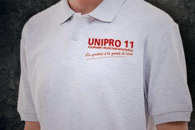 Unipro 11 Carcassonne - Personnalisation, logo, transfert, flocage